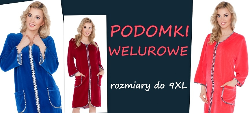 Podomki welurowe do 9XL