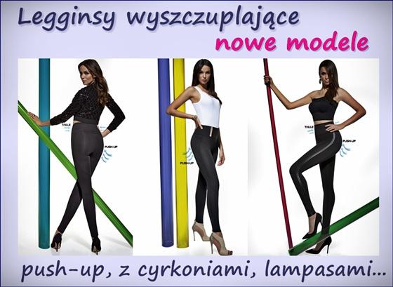 Wyszczuplające legginsy push-up